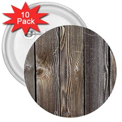 Wood Fence 3  Buttons (10 Pack)