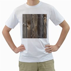 Wood Fence Men s T Shirt (white) (two Sided)