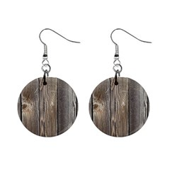 Wood Fence Mini Button Earrings