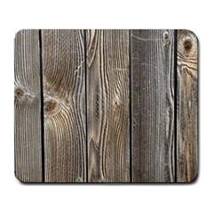 Wood Fence Large Mousepads