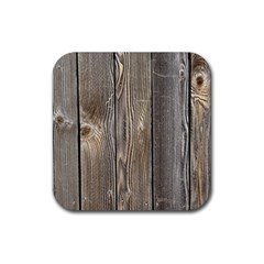 Wood Fence Rubber Square Coaster (4 Pack)