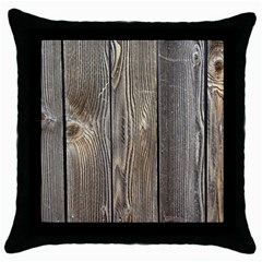 Wood Fence Throw Pillow Cases (black)
