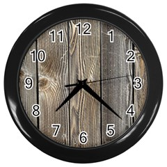 Wood Fence Wall Clocks (black)