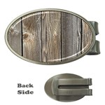 WOOD FENCE Money Clips (Oval)  Front
