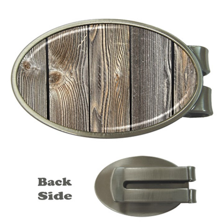 WOOD FENCE Money Clips (Oval)