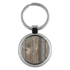 Wood Fence Key Chains (round)