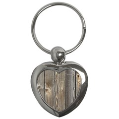 Wood Fence Key Chains (heart)