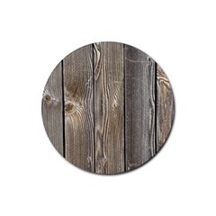 Wood Fence Rubber Round Coaster (4 Pack)