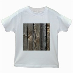 Wood Fence Kids White T Shirts
