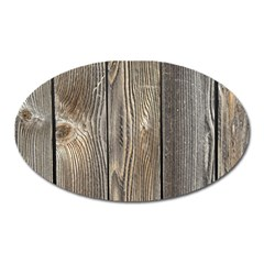 Wood Fence Oval Magnet