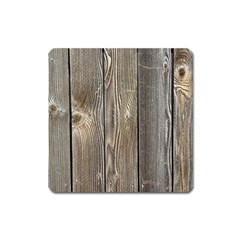 Wood Fence Square Magnet