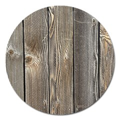 Wood Fence Magnet 5  (round)
