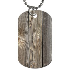 Wood Fence Dog Tag (two Sides)