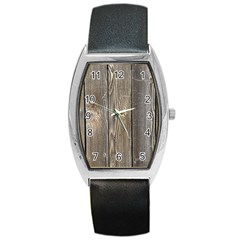 Wood Fence Barrel Metal Watches
