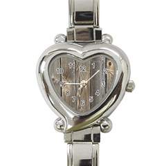 Wood Fence Heart Italian Charm Watch