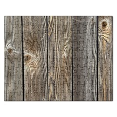 Wood Fence Rectangular Jigsaw Puzzl