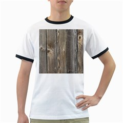 Wood Fence Ringer T Shirts