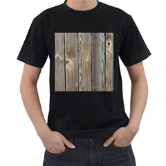 Wood Fence Men s T Shirt (black) (two Sided)