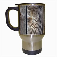 Wood Fence Travel Mugs (white)