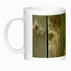 Wood Fence Night Luminous Mugs