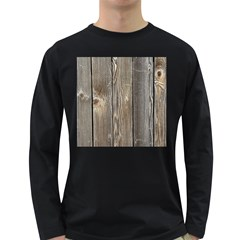 Wood Fence Long Sleeve Dark T Shirts