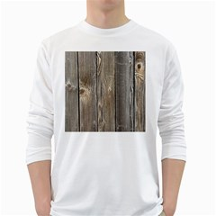 Wood Fence White Long Sleeve T Shirts