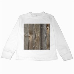 Wood Fence Kids Long Sleeve T Shirts