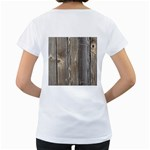 WOOD FENCE Women s Loose-Fit T-Shirt (White) Back