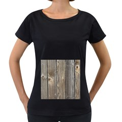 Wood Fence Women s Loose Fit T Shirt (black)