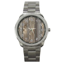 Wood Fence Sport Metal Watches