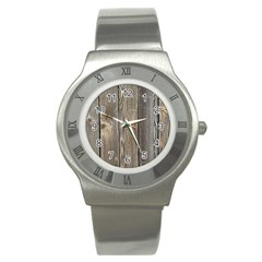 Wood Fence Stainless Steel Watches