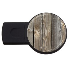 Wood Fence Usb Flash Drive Round (4 Gb)