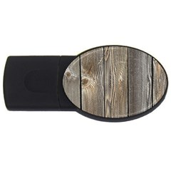 Wood Fence Usb Flash Drive Oval (4 Gb)