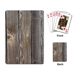Wood Fence Playing Card
