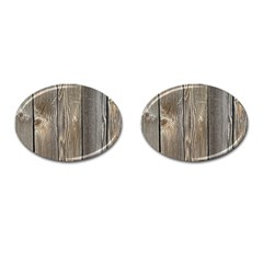 Wood Fence Cufflinks (oval)