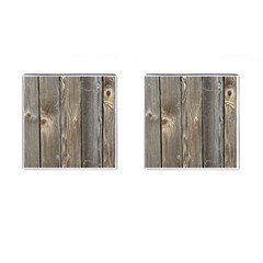 Wood Fence Cufflinks (square)