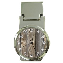 Wood Fence Money Clip Watches