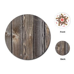 Wood Fence Playing Cards (round)