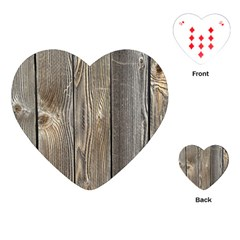 Wood Fence Playing Cards (heart)