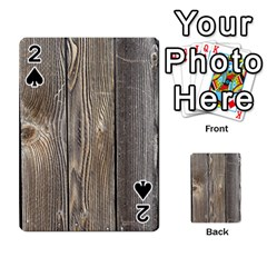 Wood Fence Playing Cards 54 Designs