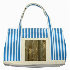 Wood Fence Striped Blue Tote Bag