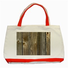 Wood Fence Classic Tote Bag (red)