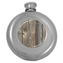 Wood Fence Round Hip Flask (5 Oz)