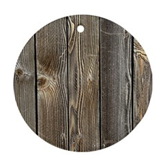 Wood Fence Round Ornament (two Sides)