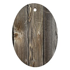 Wood Fence Oval Ornament (two Sides)