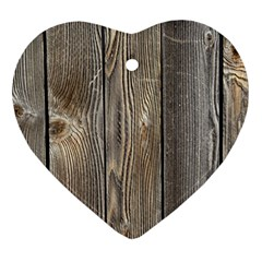 Wood Fence Heart Ornament (2 Sides)