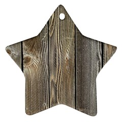 Wood Fence Star Ornament (two Sides)