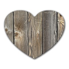 Wood Fence Heart Mousepads