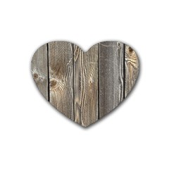 Wood Fence Heart Coaster (4 Pack)