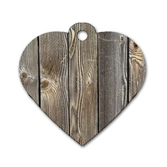 Wood Fence Dog Tag Heart (two Sides)